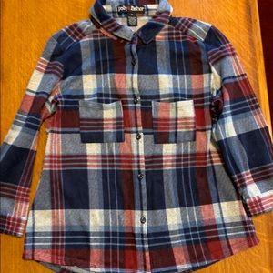 Plaid long sleeve shirt. Size XL